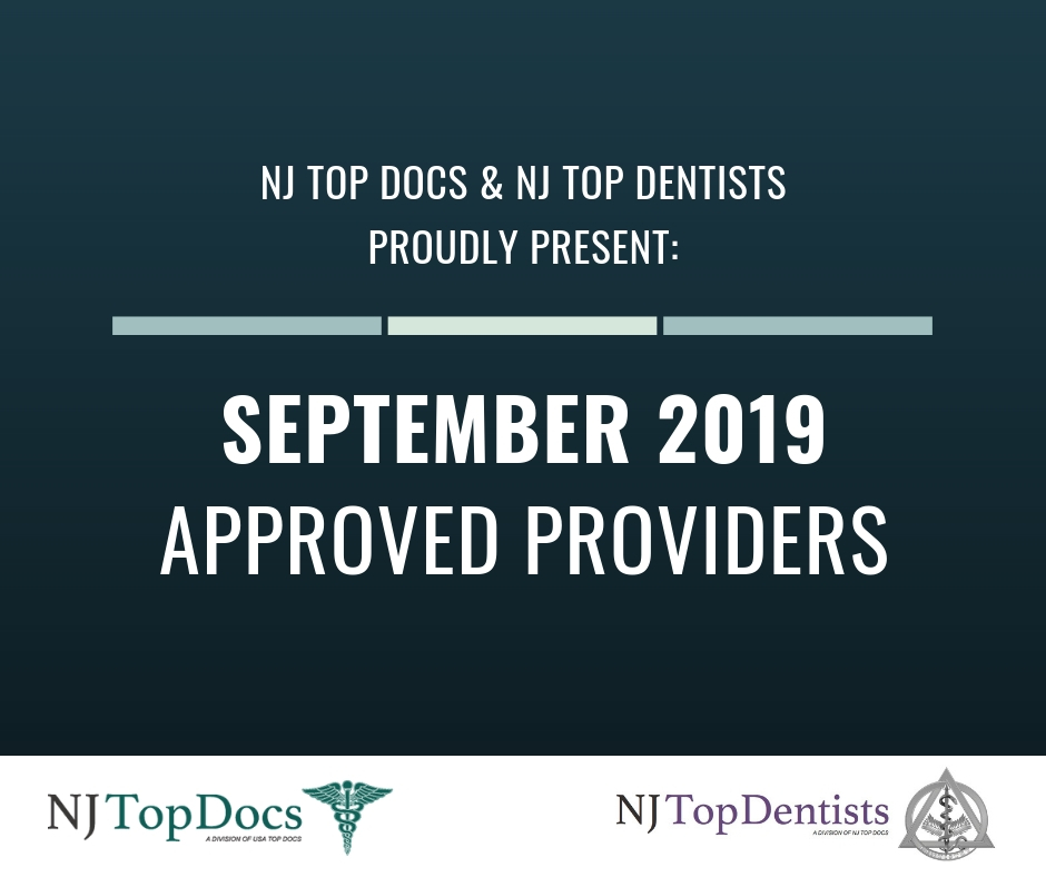 NJ Top Docs Proudly Presents Approved Providers From September 2019